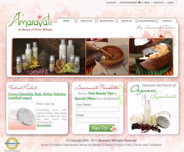 Amaravati- Natural skin care products anti-aging facial creams dry skin & body lotions Toronto