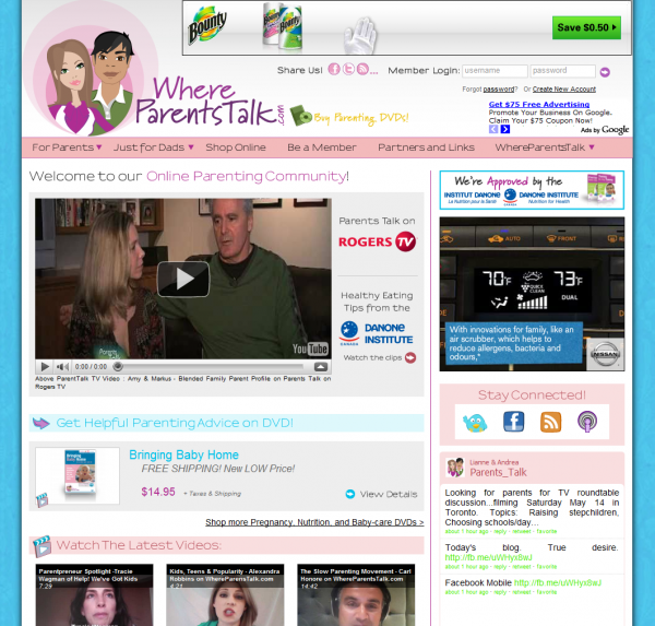 WhereParentsTalk.com - Online Parenting Community - Baby-Care DVDs, Free Parenting Advice